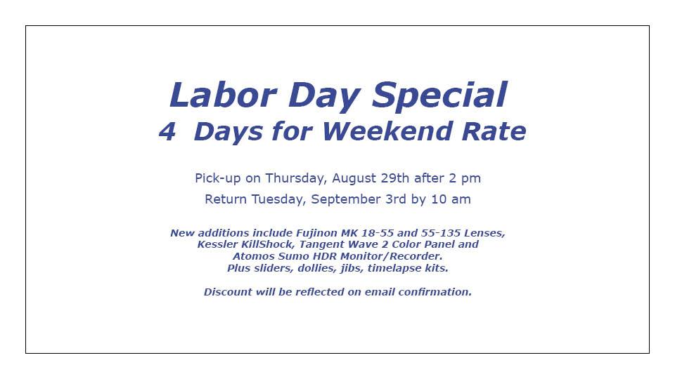 Labor Day Website Banner